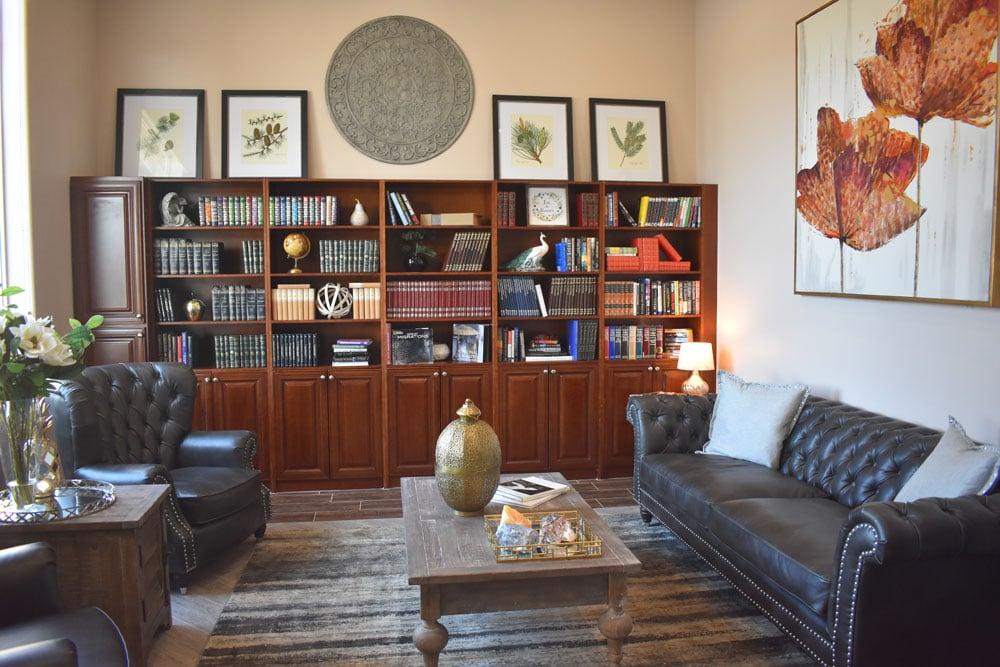 Library at The Haven at Sky Mountain