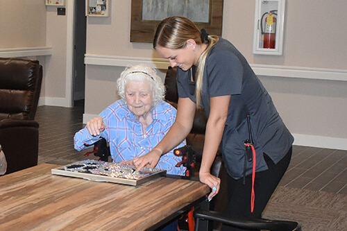Haven at Sky Mountain Independent and Assisted Living in Southern Utah - resident and staff