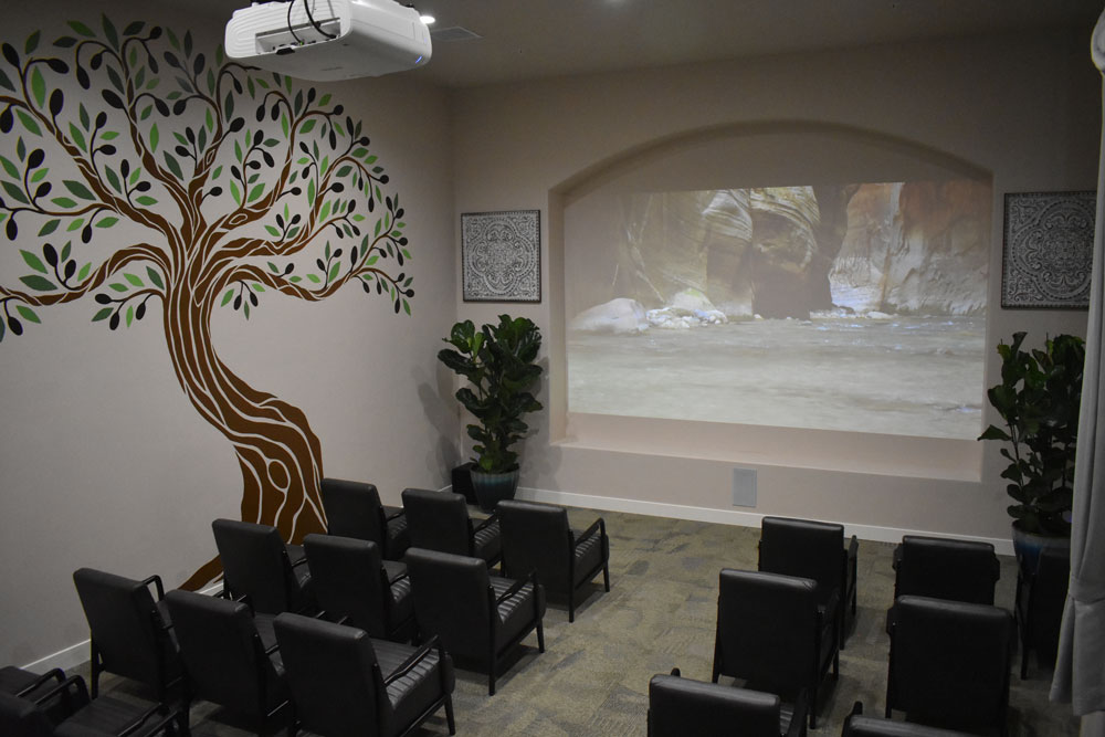 Movie Theater at The Haven at Sky Mountain